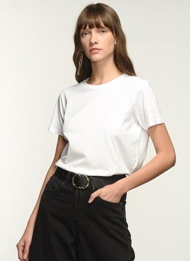 NGSTYLE NGKSS21TS0032 Baskılı Tişört Beyaz